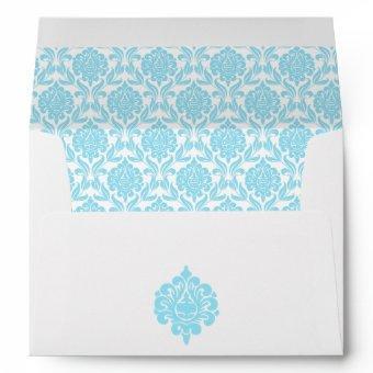 Elegant Blue Damask Envelope