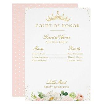 Elegant blush pink floral court of honor