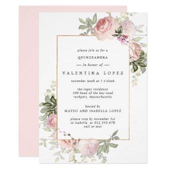Elegant Blush Pink Floral