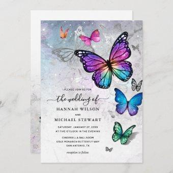 Elegant Colorful Butterfly Wedding