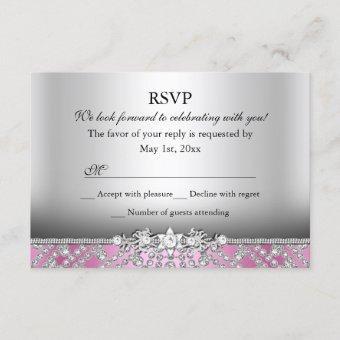 Elegant Diamond Pink RSVP