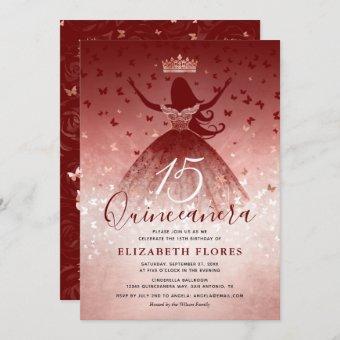 Elegant Dress Burgundy Rose Gold Pink