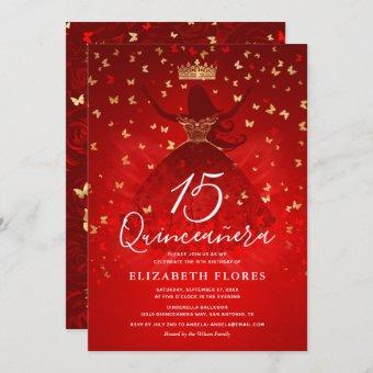 Elegant Dress Crown Red and Gold