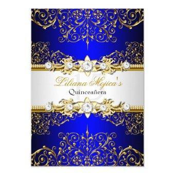 Elegant Gold Blue Vintage Glamour