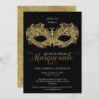 Elegant Gold Masquerade Mask