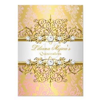 Elegant Gold Pink Vintage Glamour