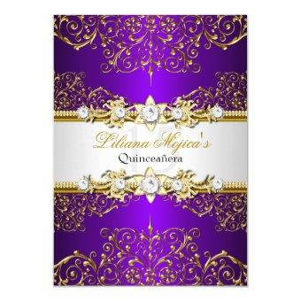 Elegant Gold Purple Vintage Glamour