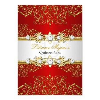 Red Quinceanera Invitations Quinceanera Invitations