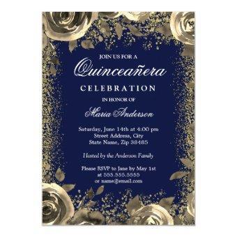 Elegant Gold Sparkle Glitter Invite