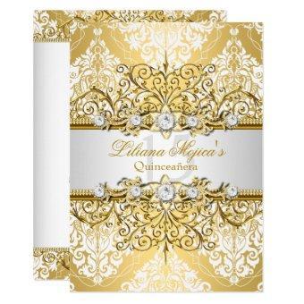 Elegant Gold White Vintage Glamour 4