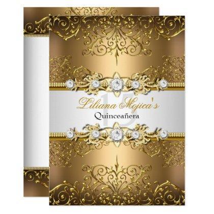 Elegant Gold White Vintage Glamour