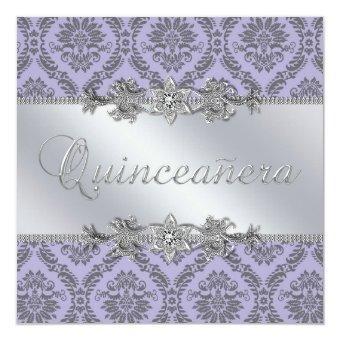 Elegant Gray and Purple Damask
