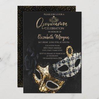 Elegant Masque,Confetti Masquerade Quinceañera
