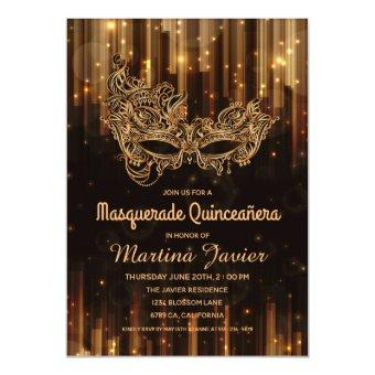 Elegant Masquerade Quinceañera 15th Birthday