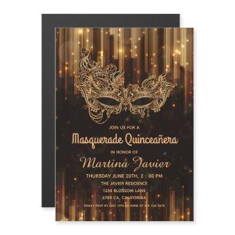 Elegant Masquerade Quinceañera 15th Birthday Magnetic