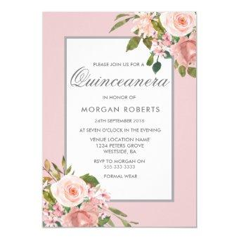 Elegant Pink Rose Gold Invite