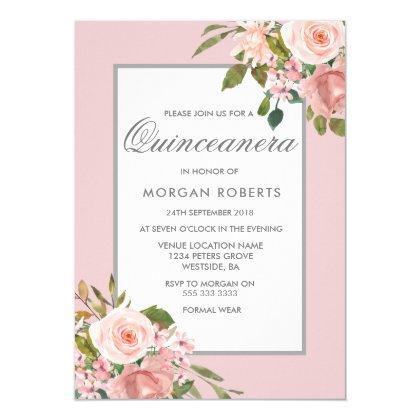 Elegant Pink Rose Gold Invite