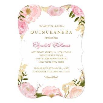 Elegant Pink Rose Invite