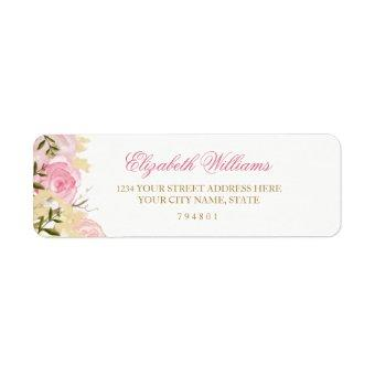 Elegant Pink Rose Return Address Label