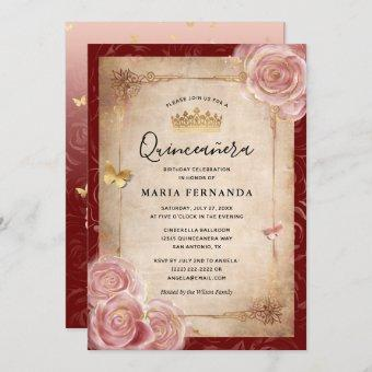 Elegant Pink Watercolor Rose Gold