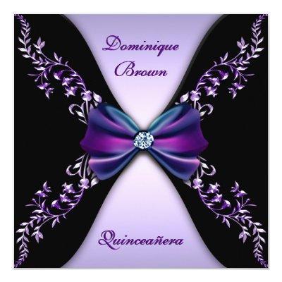 Elegant Purple Black Diamond Bow