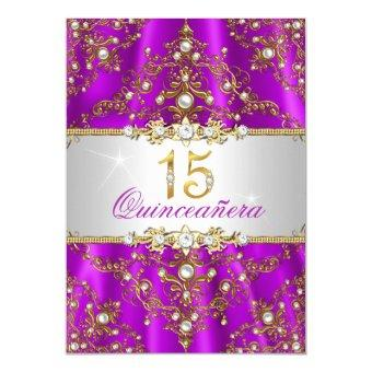 Elegant Purple Gold Pearl Damask