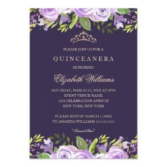 Elegant Purple Watercolor Floral