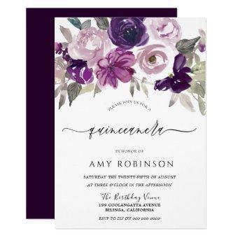 Elegant Purple Watercolor Floral Party