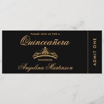 Elegant Gold and Black Ticket