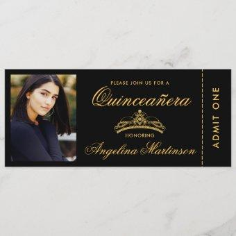 Elegant Photo Gold and Black Ticket