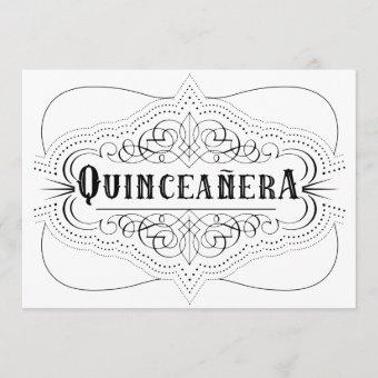 Elegant Quinceañera South Western Black and White