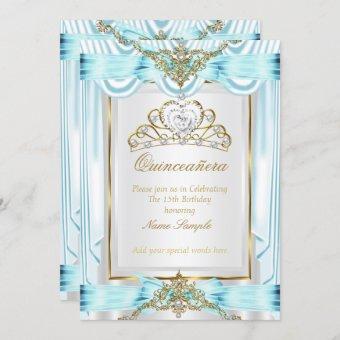 Elegant Teal Blue Gold Silver White