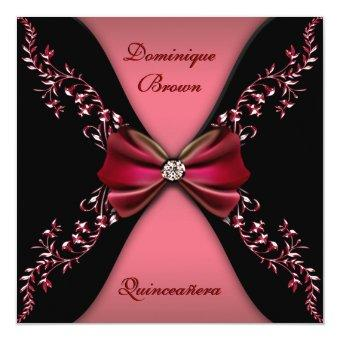 Elegant Red Black Diamond Bow