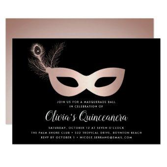 Elegant Rose Gold Masquerade Theme