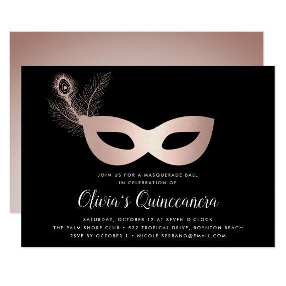 Elegant Rose Gold Masquerade Theme