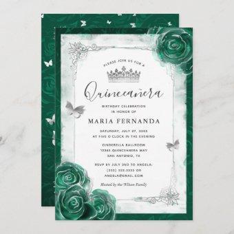 Elegant Rose Silver Green