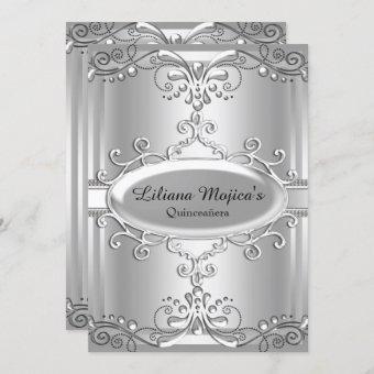 Elegant Silver Swirl