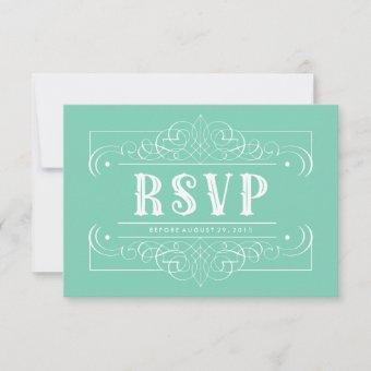 Elegant South Western Pastel Green RSVP Card