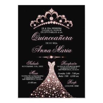 Elegant Spanish Quinceañera Mis Quince Pink