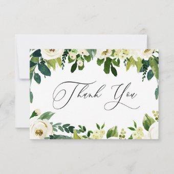 Elegant White Flowers Elegant Thank You