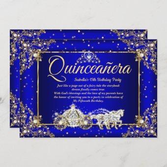 Elite Princess Royal Blue Gold Sparkle