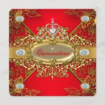 Elite Regal Red Gold Damask 15th Party