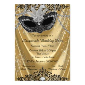 Fancy Black and Gold Masquerade Party