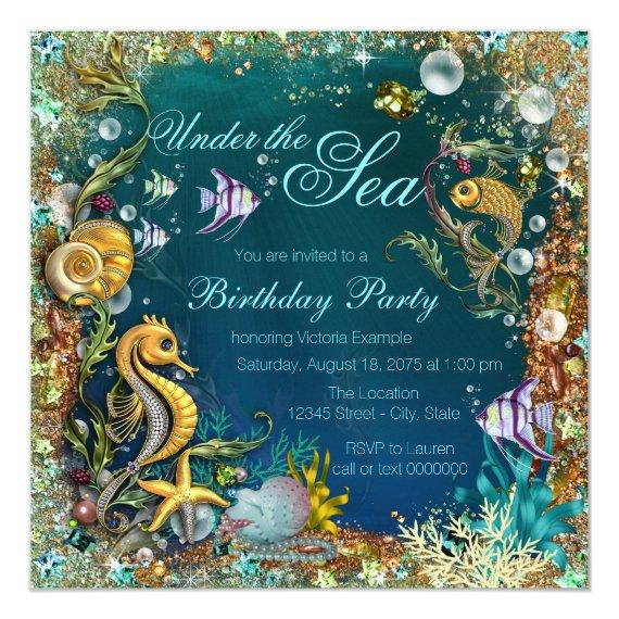 Fancy Under the Sea Birthday Party