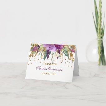 Floral Glitter Sparkling Amethyst