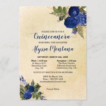 Floral Royal Blue Mass & Reception