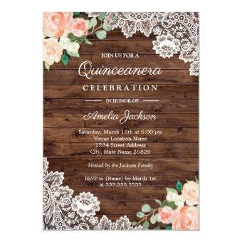 Floral Rustic Wood Lace