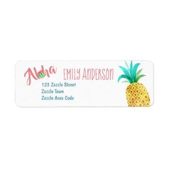 Fruity Tropical Address Label Watermelon Pineapple
