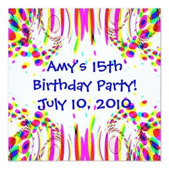 Fun Colorful Birthday Party!