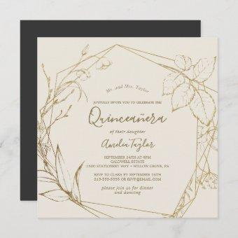 Gilded Floral | Cream and Gold Quinceañera